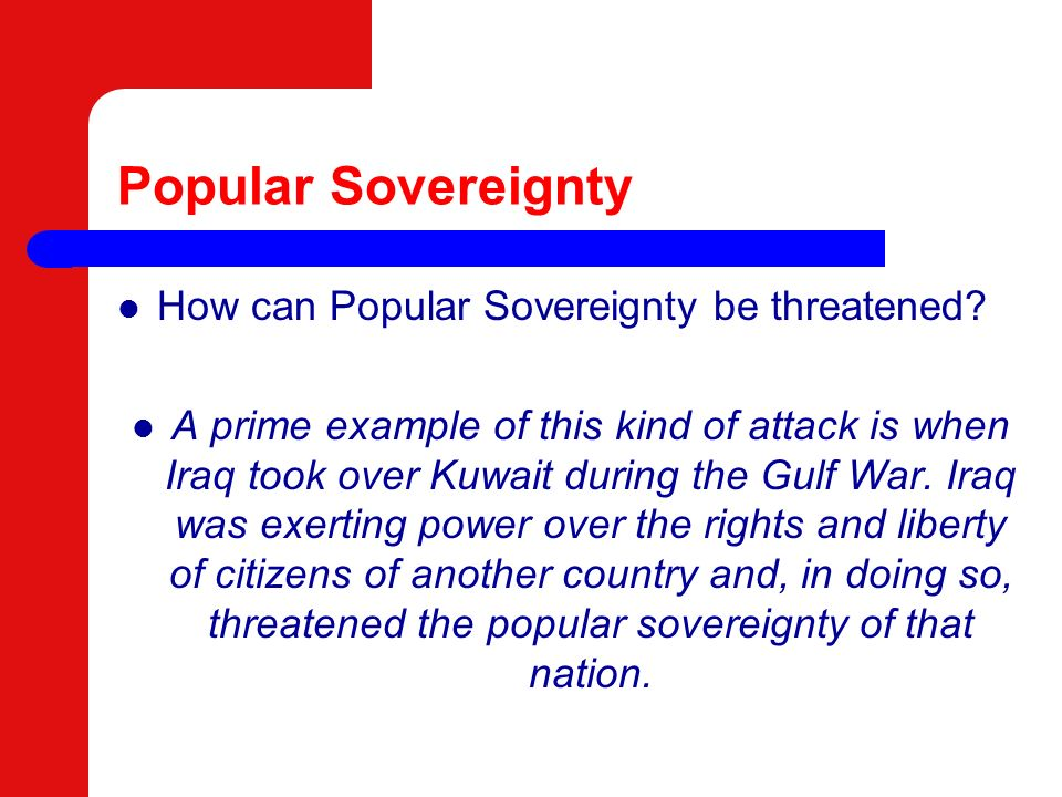 What is Popular Sovereignty?