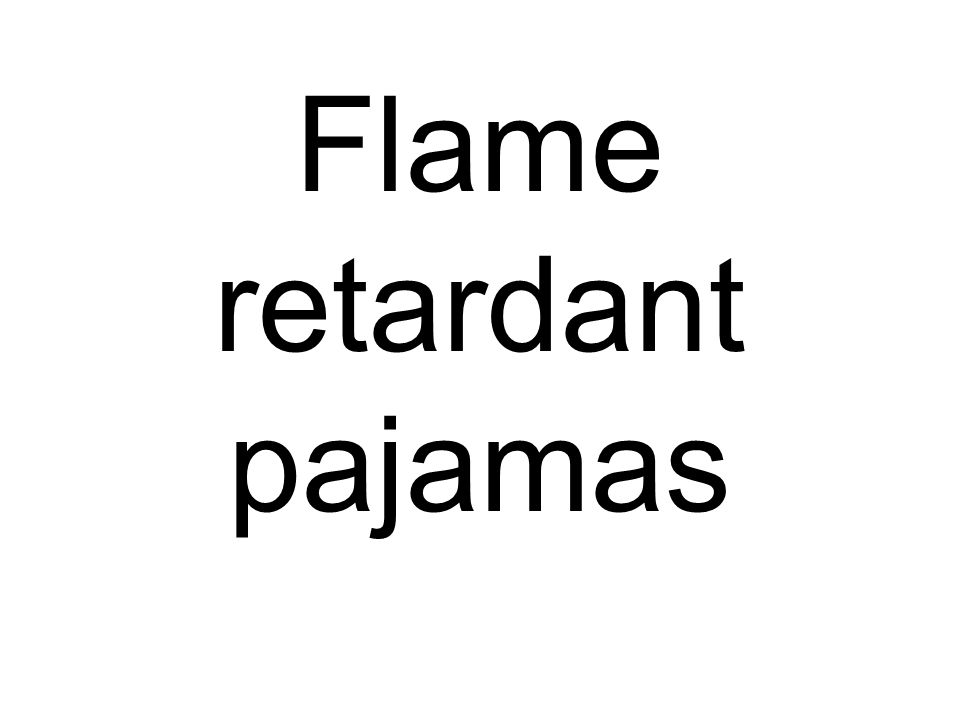 Flame retardant pajamas