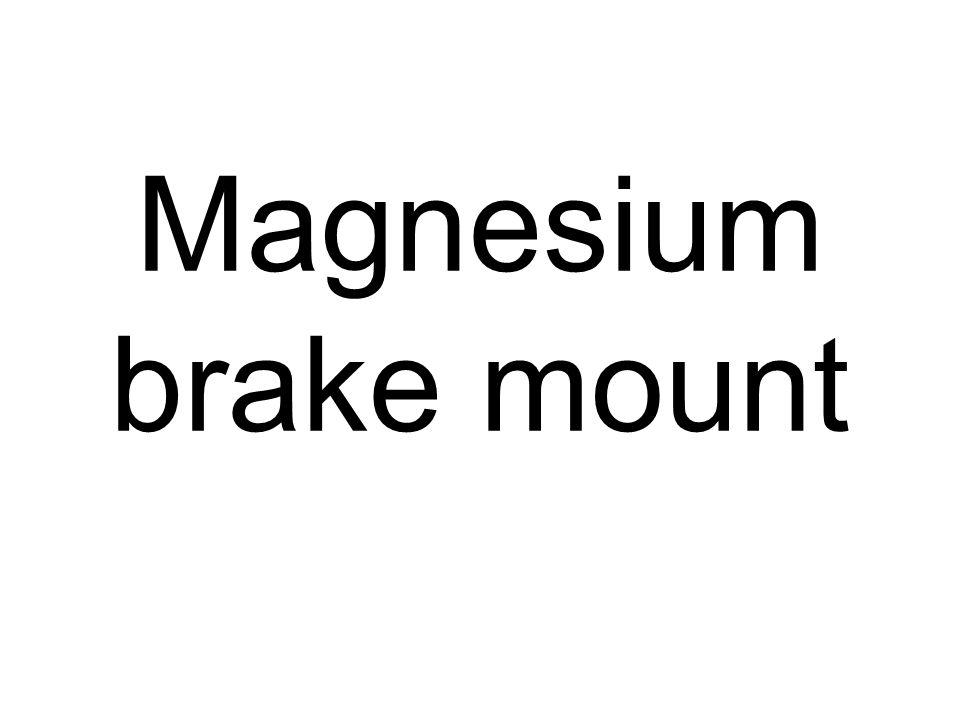 Magnesium brake mount