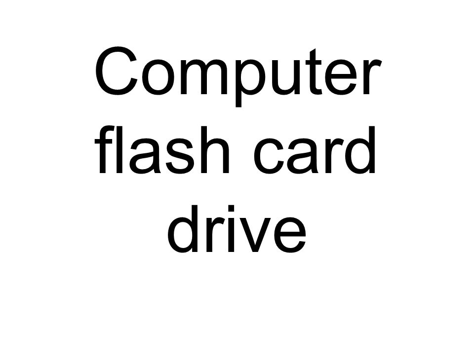 Computer flash card drive