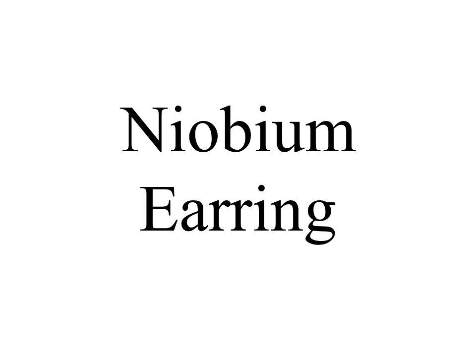 Niobium Earring