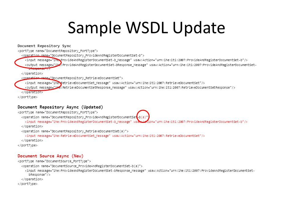 Sample WSDL Update Document Repository Async (Updated)