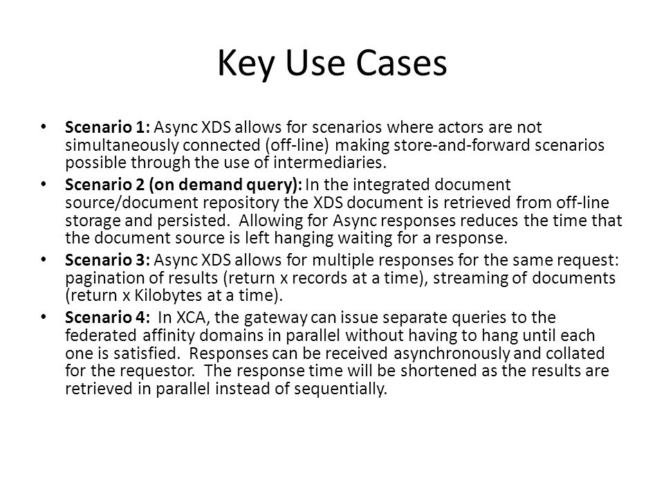 Key Use Cases