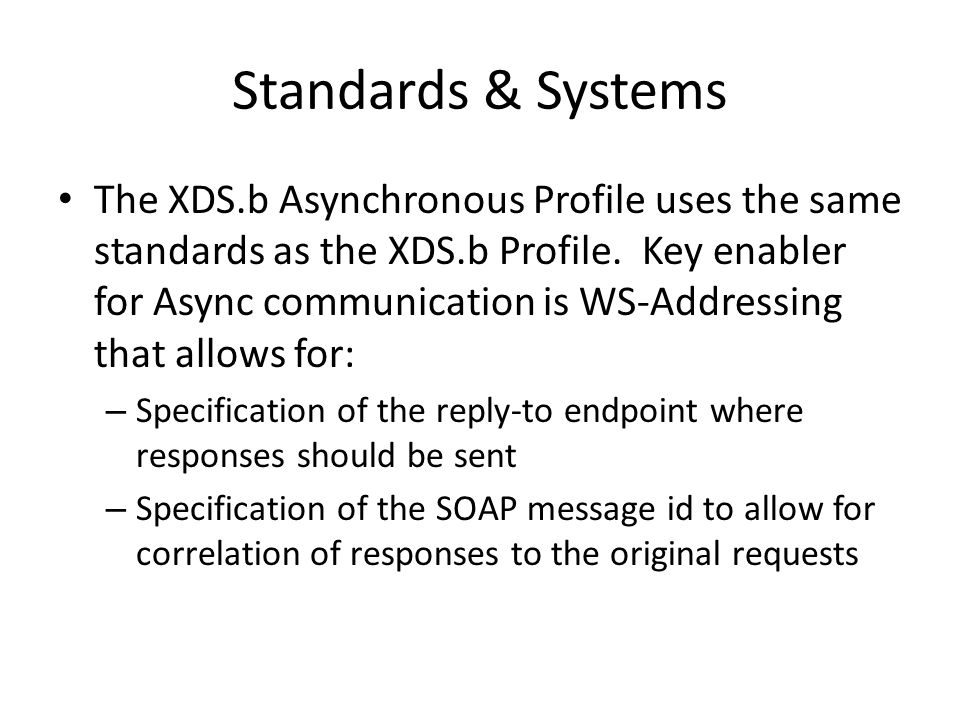 Standards & Systems