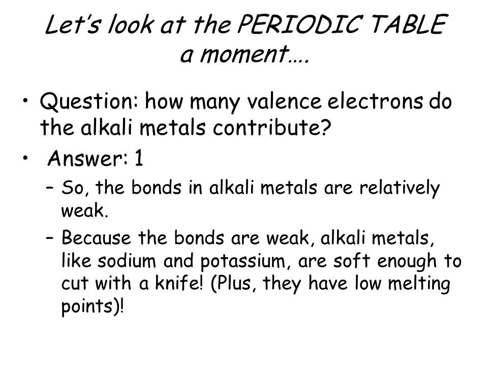Chapter 6 chemical bonds ppt video online download for Periodic table 6 mark question