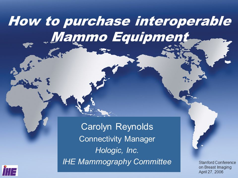 How to purchase interoperable Mammo Equipment