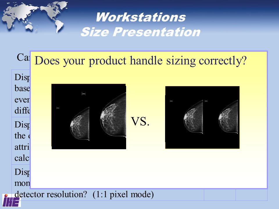 Workstations Size Presentation