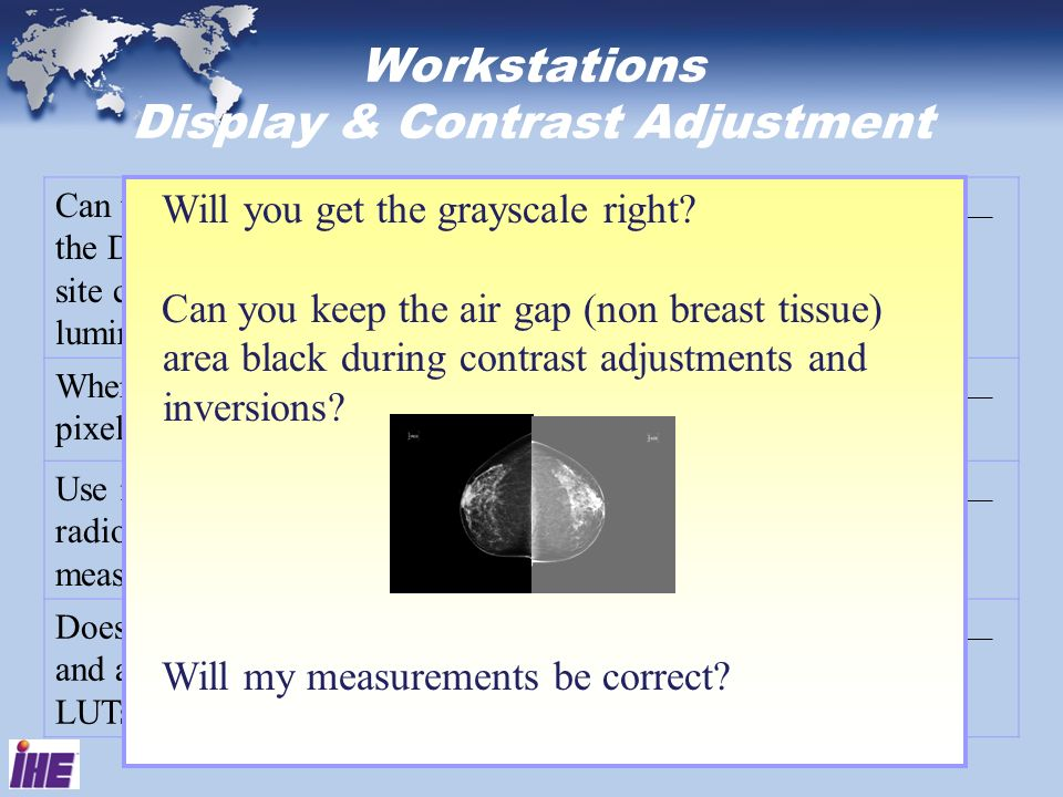 Workstations Display & Contrast Adjustment