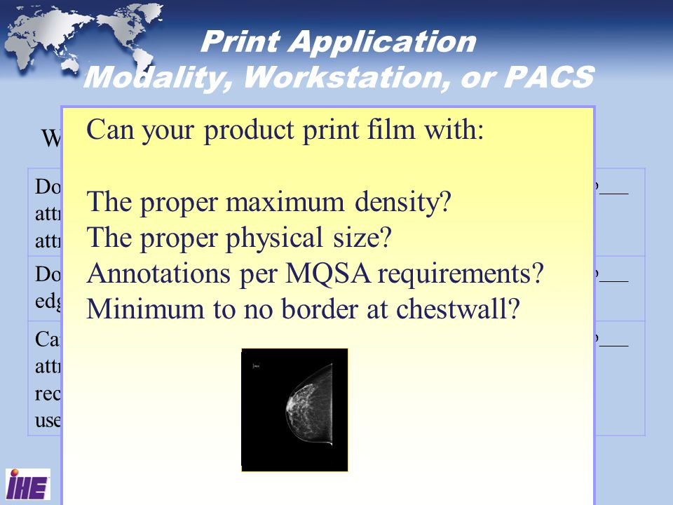 Print Application Modality, Workstation, or PACS