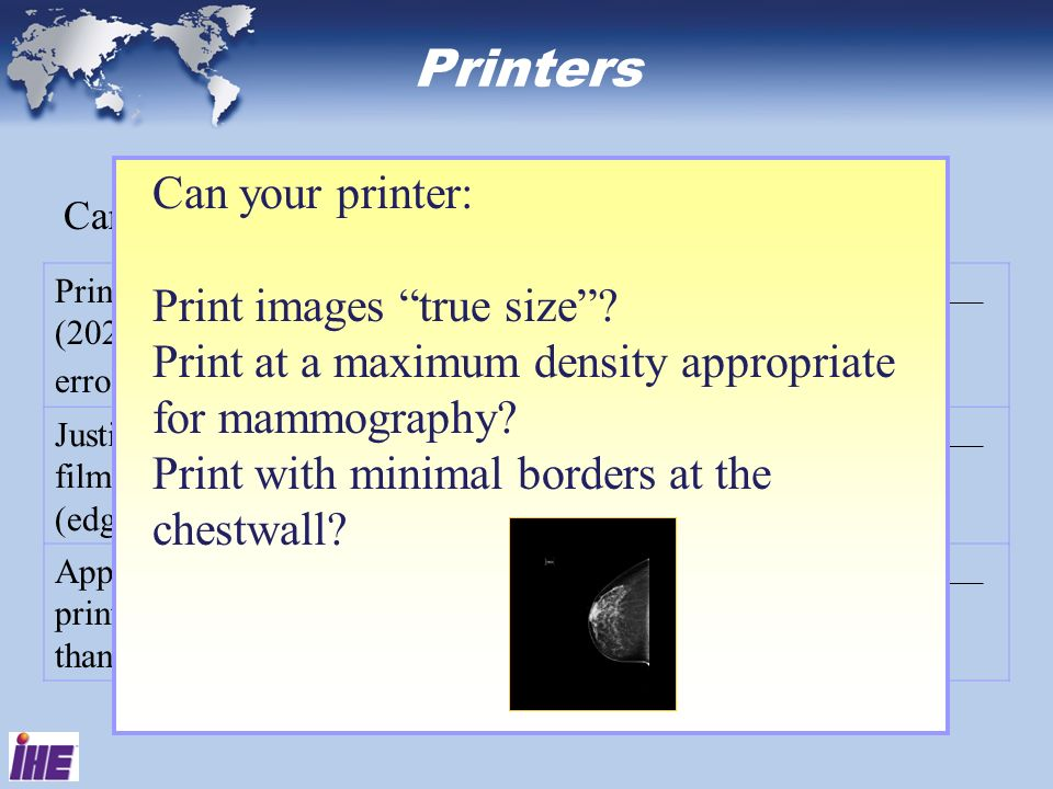 Printers Can your printer: Print images true size