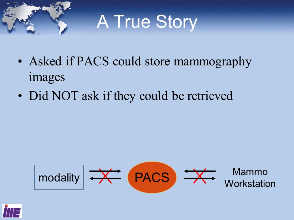 A True Story Asked if PACS could store mammography images