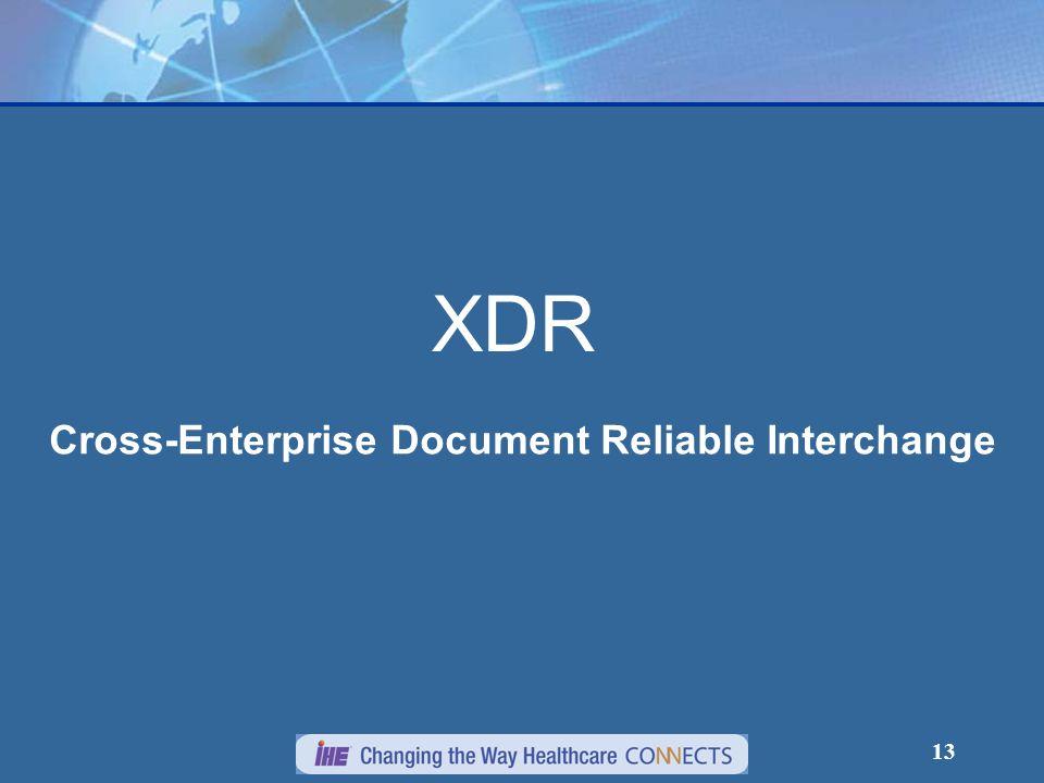 Cross-Enterprise Document Reliable Interchange