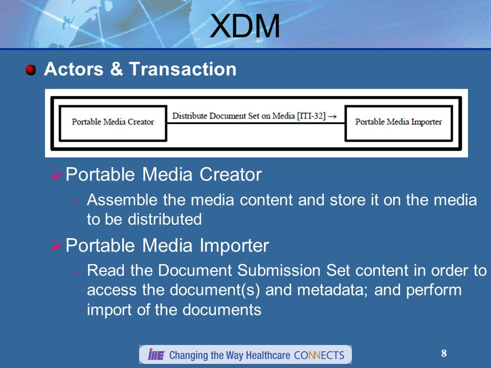 XDM Actors & Transaction Portable Media Creator