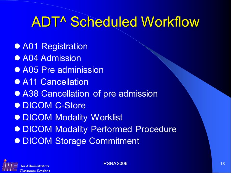 ADT^ Scheduled Workflow