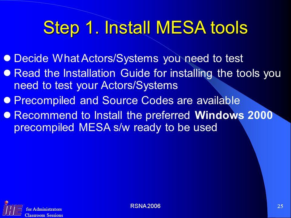 Step 1. Install MESA tools