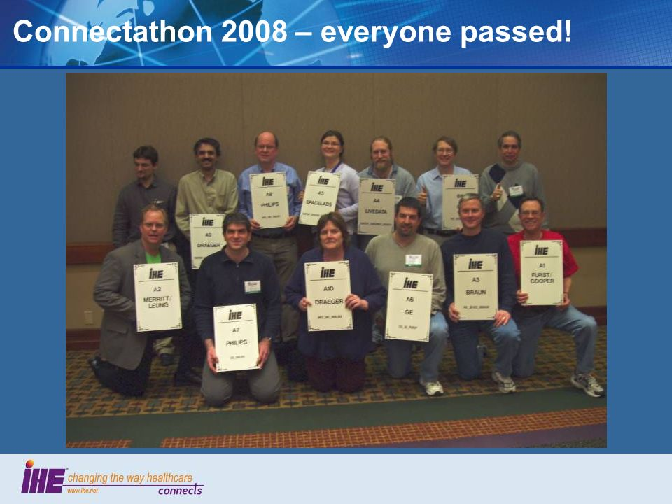 Connectathon 2008 – everyone passed!