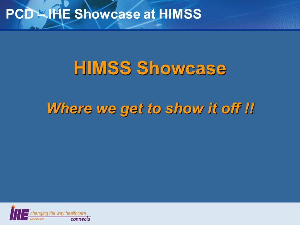 PCD – IHE Showcase at HIMSS
