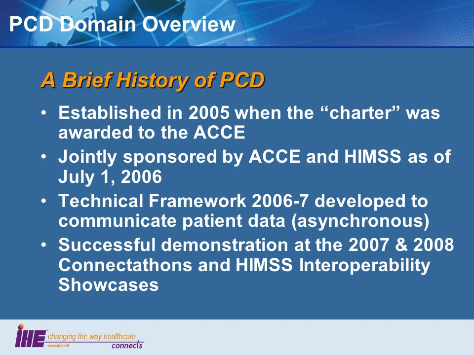 PCD Domain Overview A Brief History of PCD