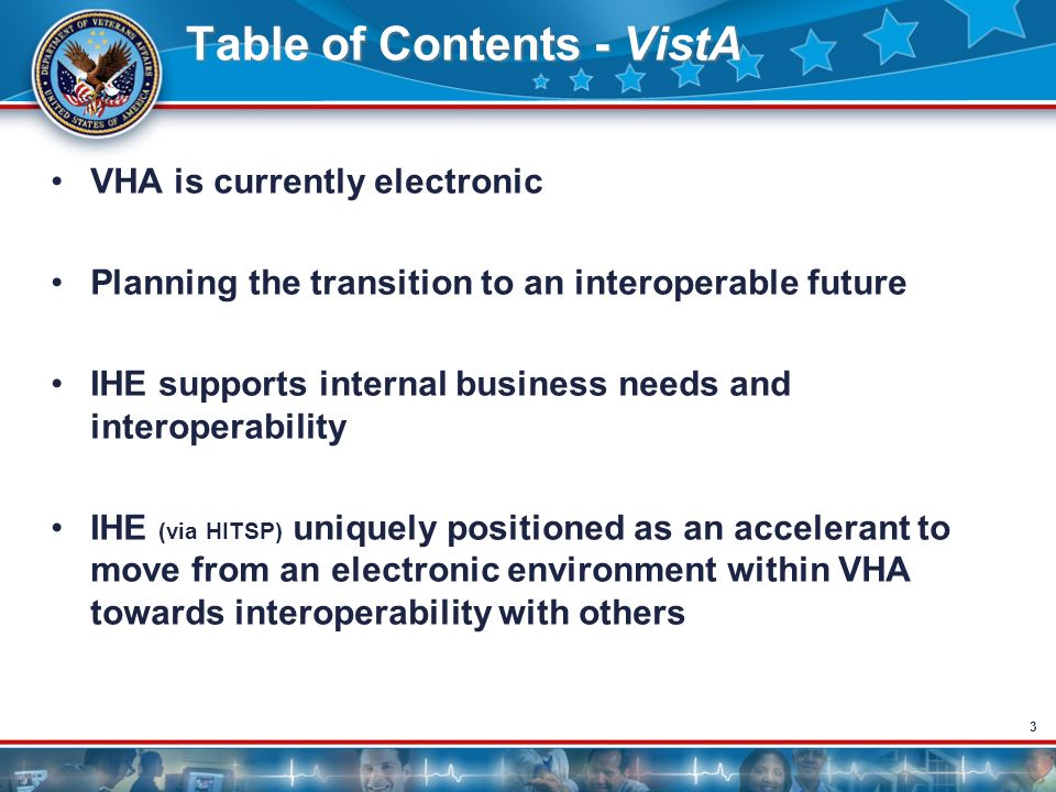 Table of Contents - VistA