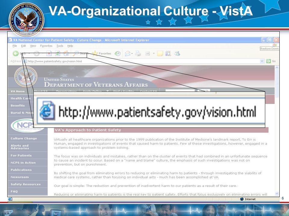 VA-Organizational Culture - VistA