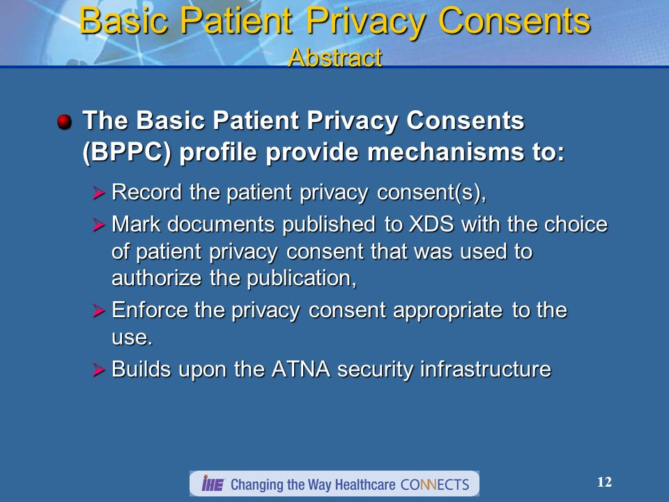Basic Patient Privacy Consents Abstract