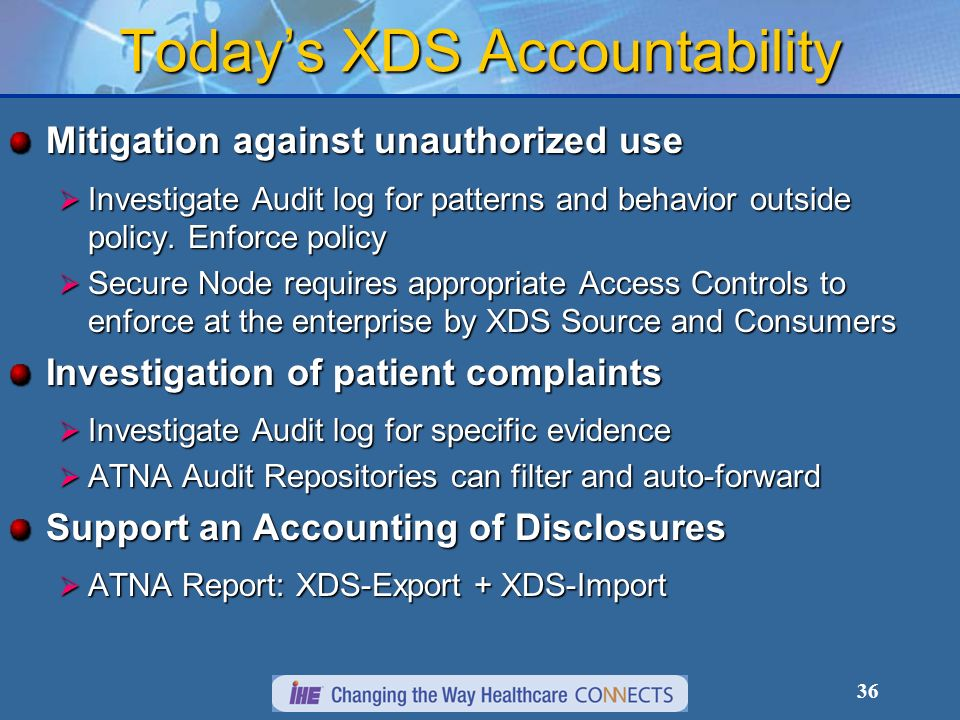 Today's XDS Accountability