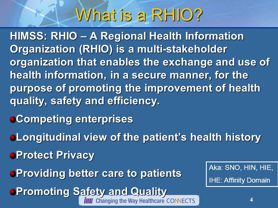 What is a RHIO