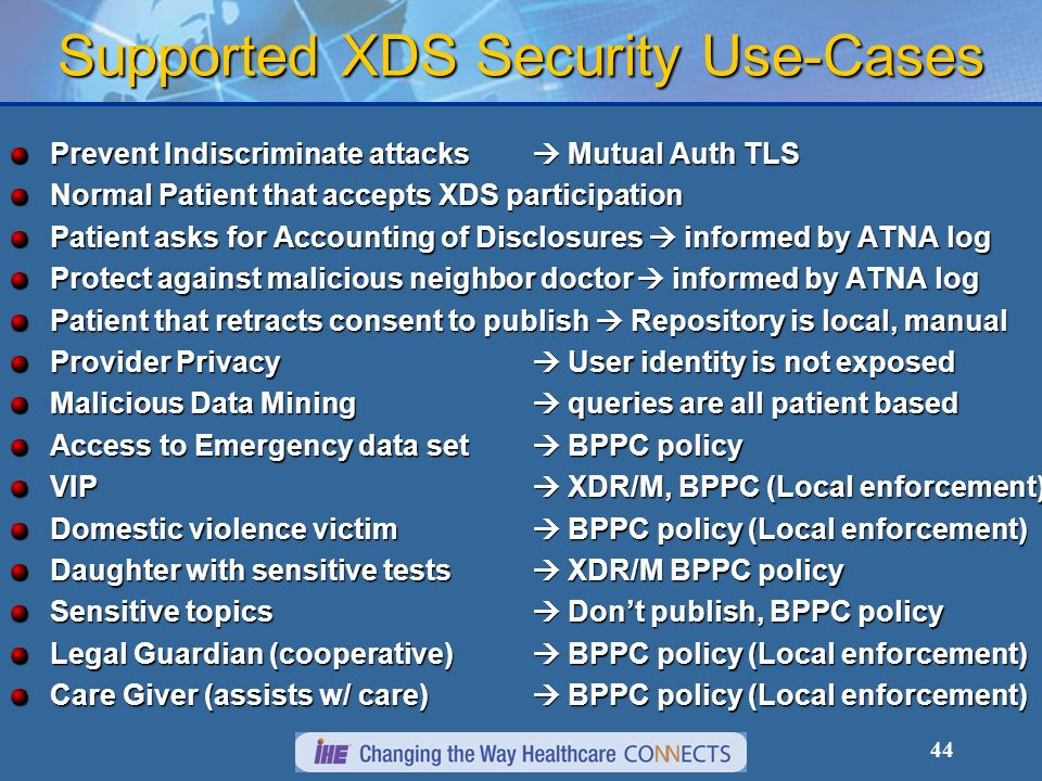 Supported XDS Security Use-Cases