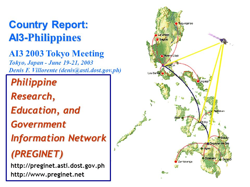 Country Report: AI3-Philippines
