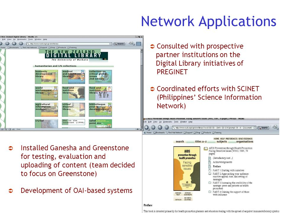 Network Applications Consulted with prospective