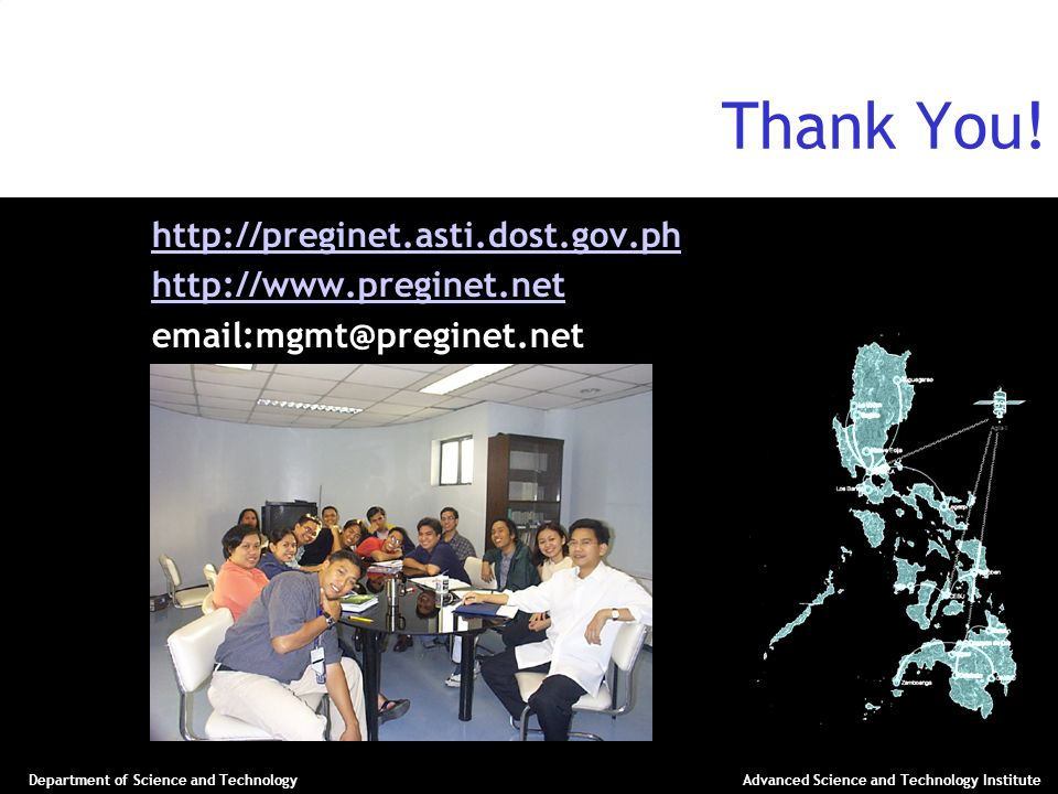 Thank You! http://preginet.asti.dost.gov.ph http://www.preginet.net