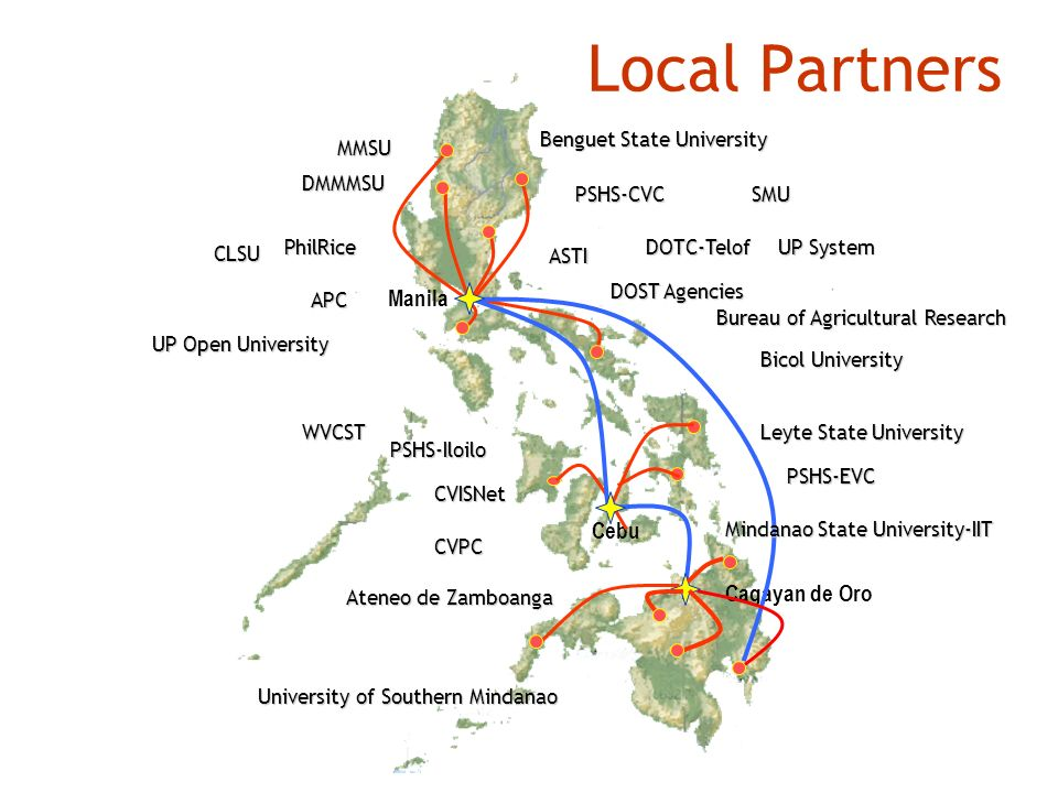 Local Partners Manila Cebu Cagayan de Oro Benguet State University