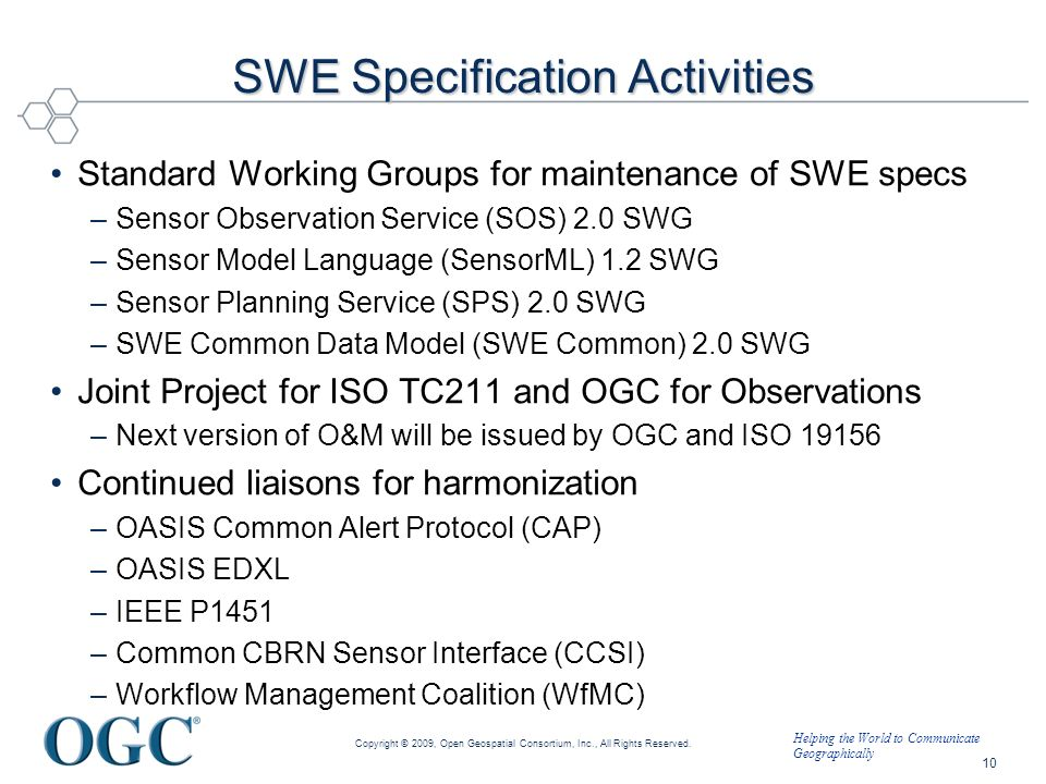 SWE Specification Activities