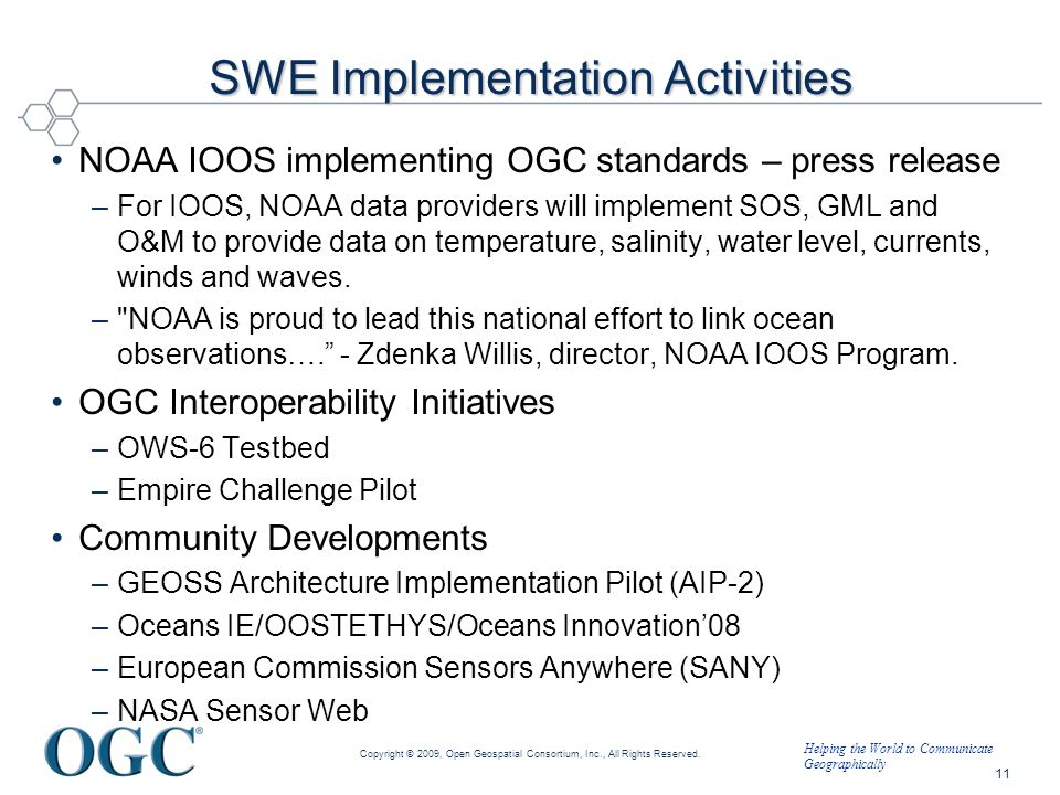 SWE Implementation Activities