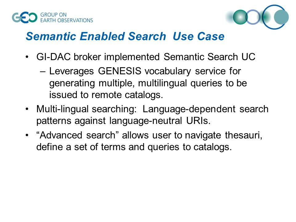 Semantic Enabled Search Use Case