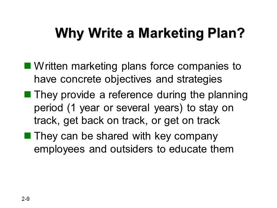 10 Key Components of a Marketing Plan