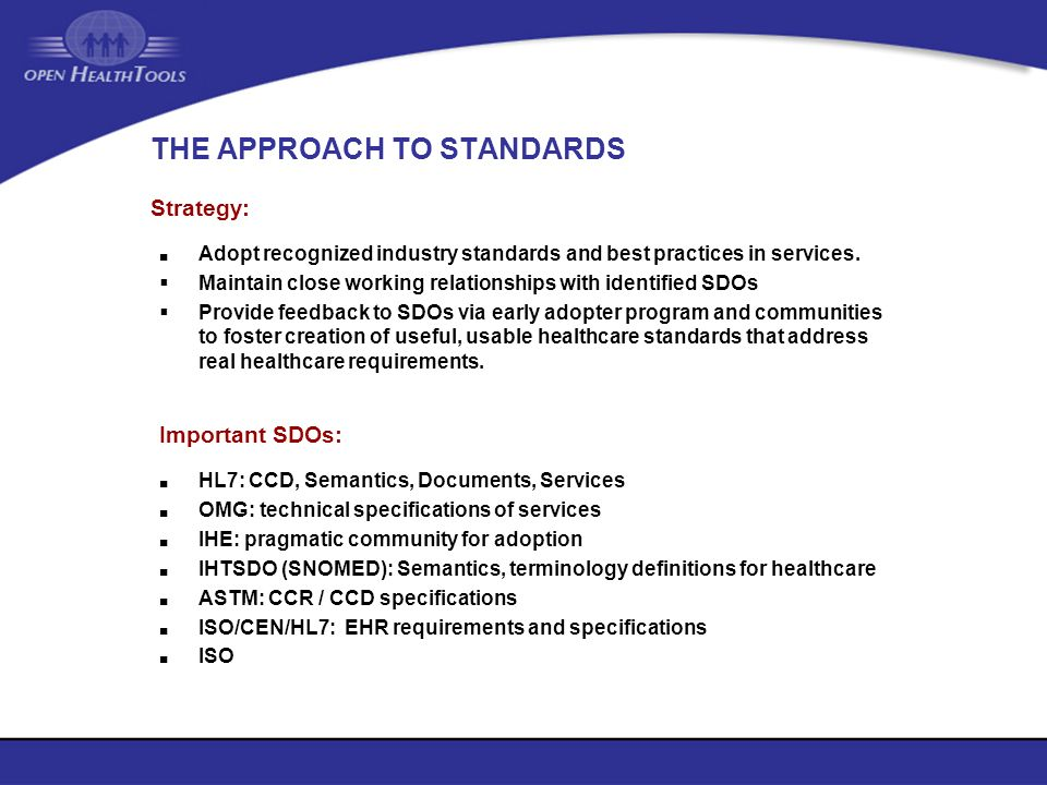 THE APPROACH TO STANDARDS