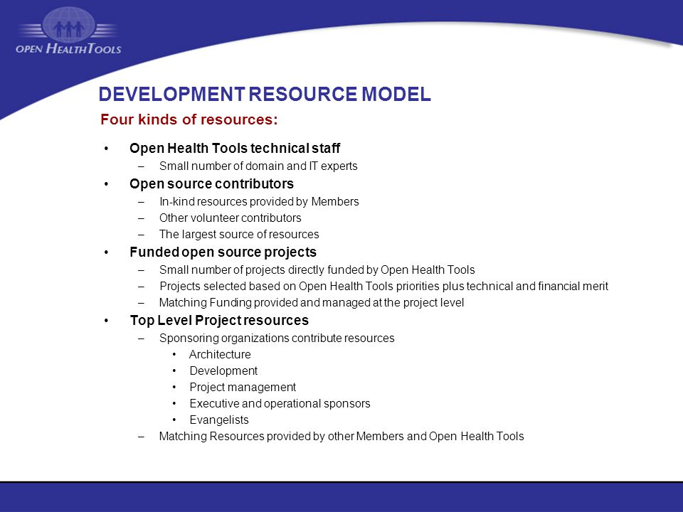 DEVELOPMENT RESOURCE MODEL