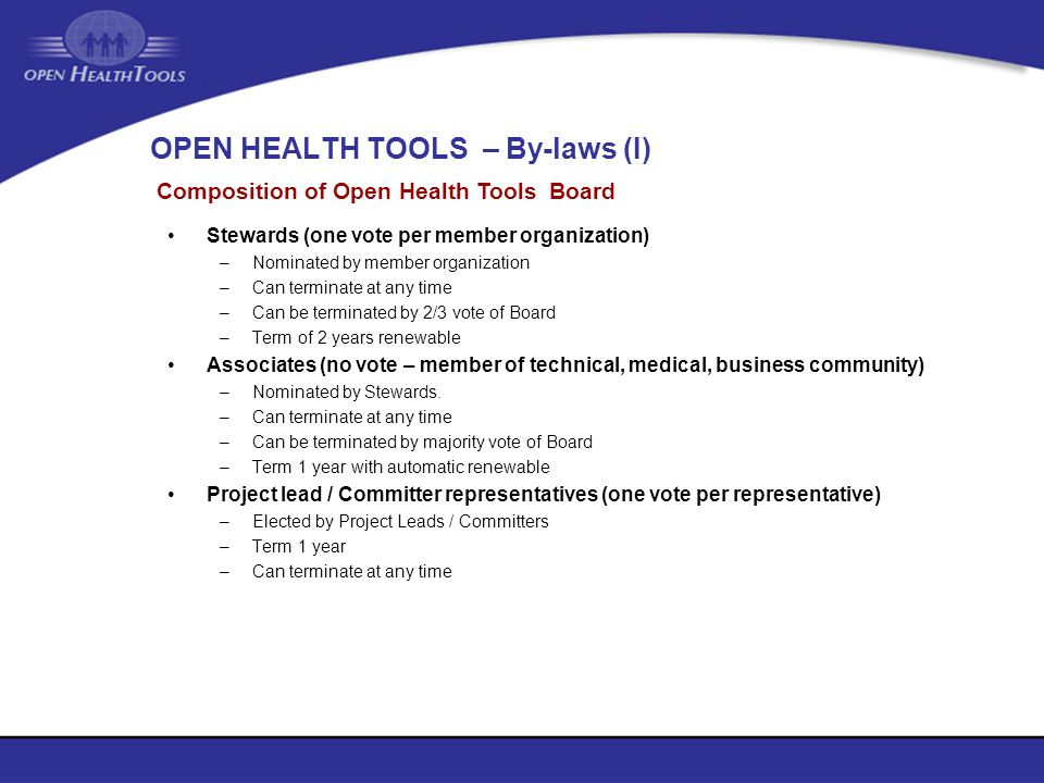 OPEN HEALTH TOOLS – By-laws (I)