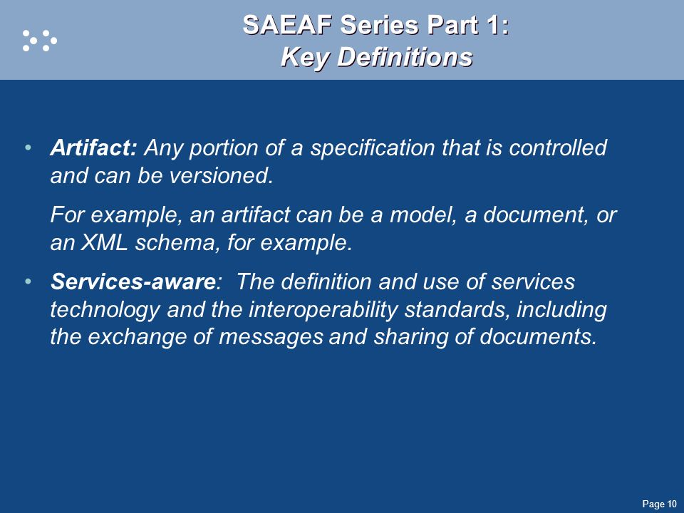 SAEAF Series Part 1: Key Definitions
