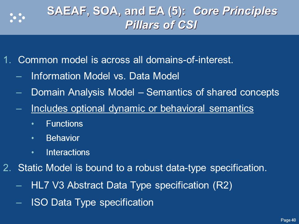 SAEAF, SOA, and EA (5): Core Principles Pillars of CSI
