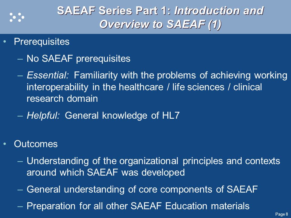 SAEAF Series Part 1: Introduction and Overview to SAEAF (1)