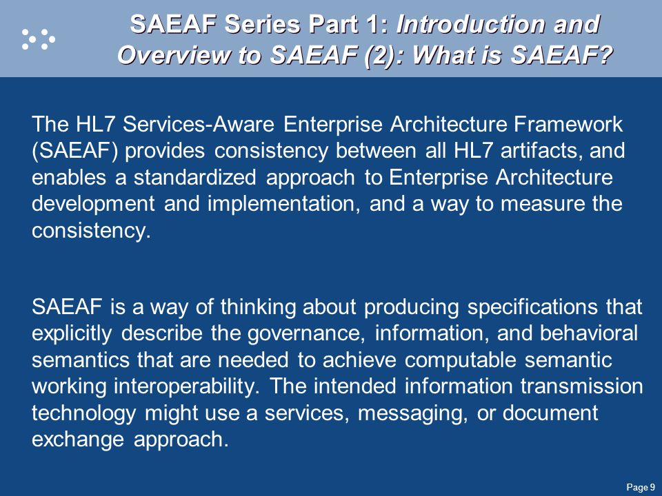 SAEAF Series Part 1: Introduction and Overview to SAEAF (2): What is SAEAF