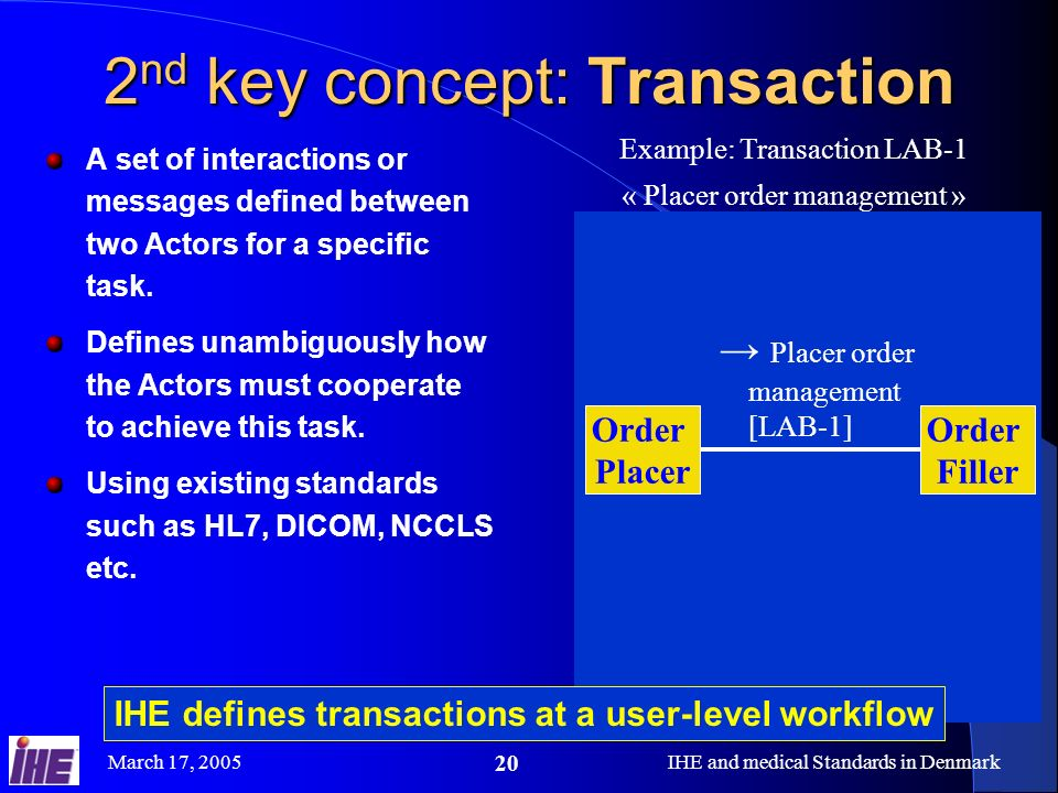 2nd key concept: Transaction