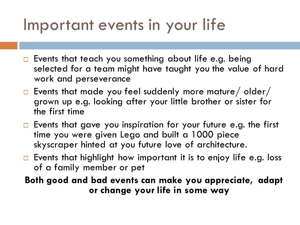 life events that changed you Change your plan with a qualifying life event when life brings changes, you have the opportunity to change your health insurance policy through qualifying life events.