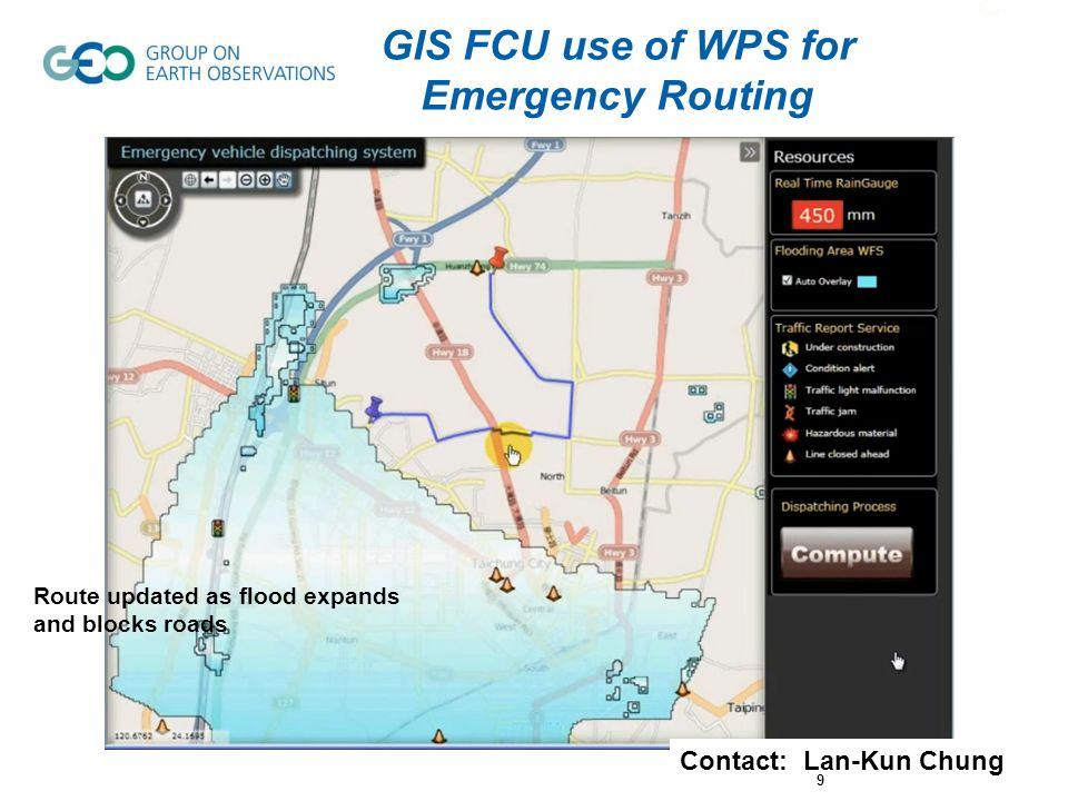 GIS FCU use of WPS for Emergency Routing
