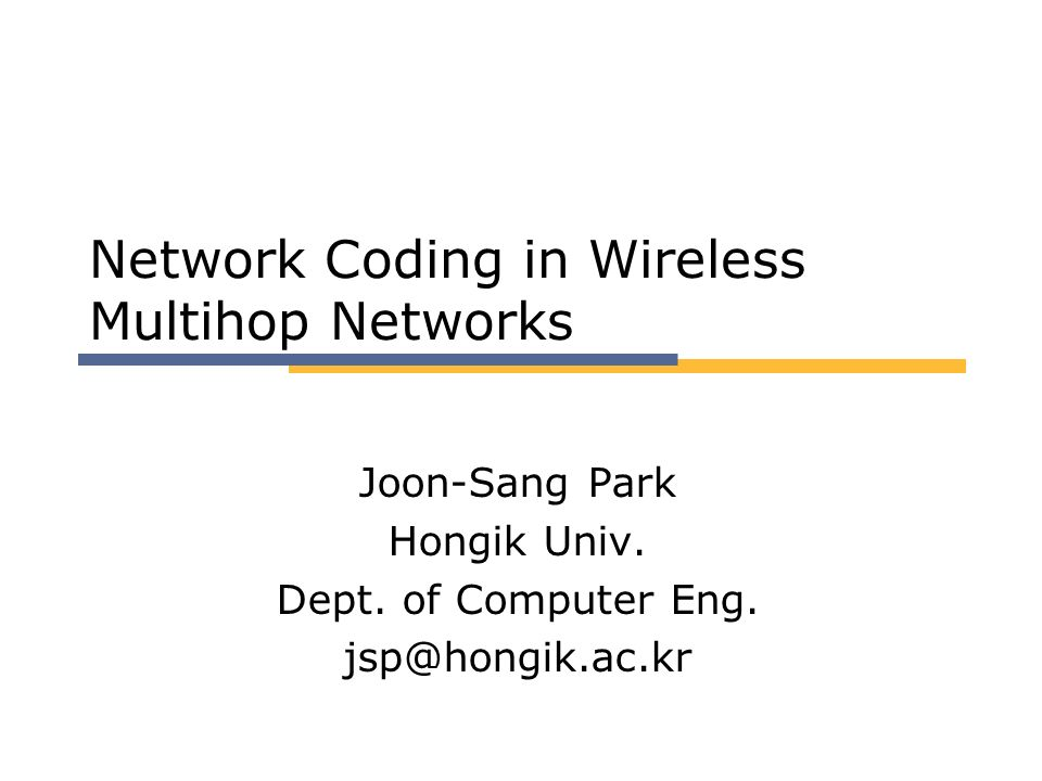 Network Coding in Wireless Multihop Networks