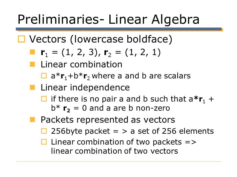 Preliminaries- Linear Algebra