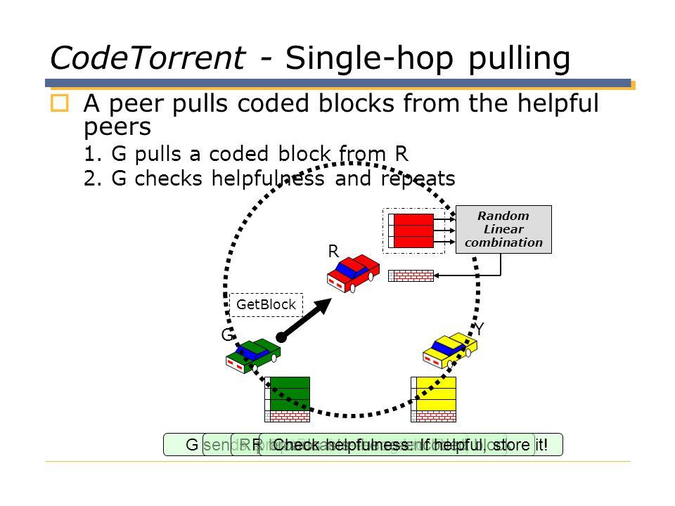 CodeTorrent - Single-hop pulling