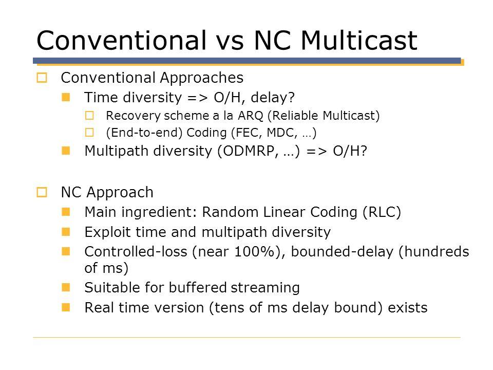 Conventional vs NC Multicast